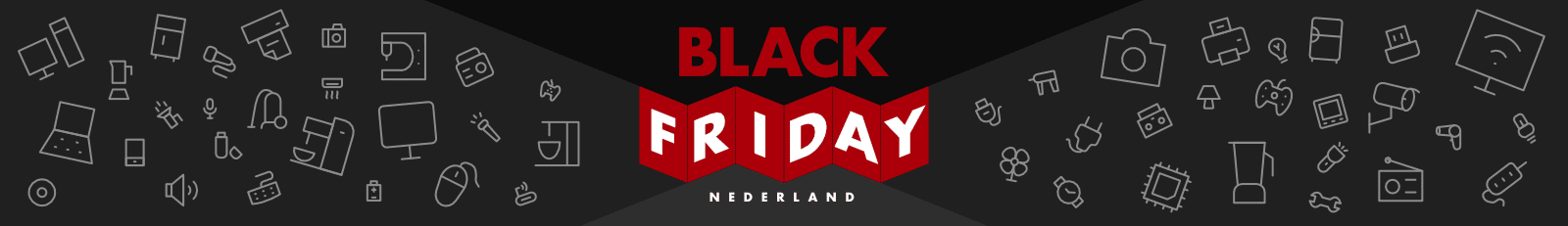 Header ontwerp voor Black Friday Nederland